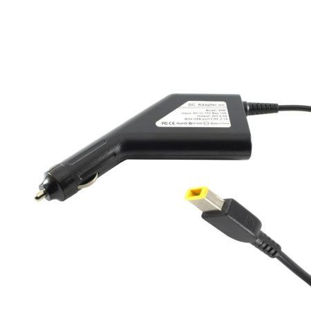 Lenovo ThinkPad X1 Carbon autós töltő 90W + USB2.0