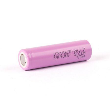 Samsung ICR18650-26JM 2600mAh 3.6V Li-Ion akku cella (1db)