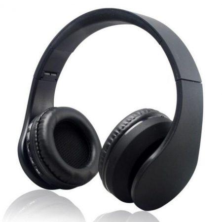 WPOWER K-818 Bluetooth, MP3, sztereó headset, fekete