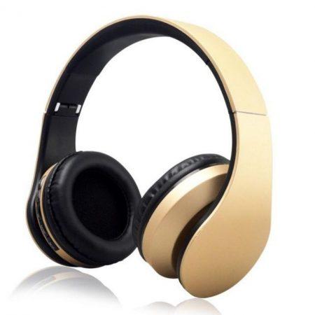 WPOWER K-818 Bluetooth, MP3, sztereó headset, arany