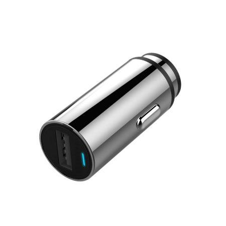 Qualcomm QC3.0 autós USB töltő 18W, ezüst
