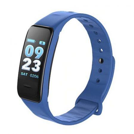 C1 Plus fitnesz óra pulzusmérővel, kék