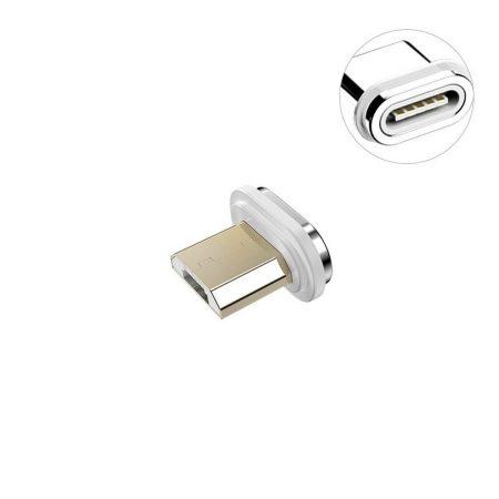 Mágneses MicroUSB csatlakozó 3A PD-QC gyors-töltő kábelekhez