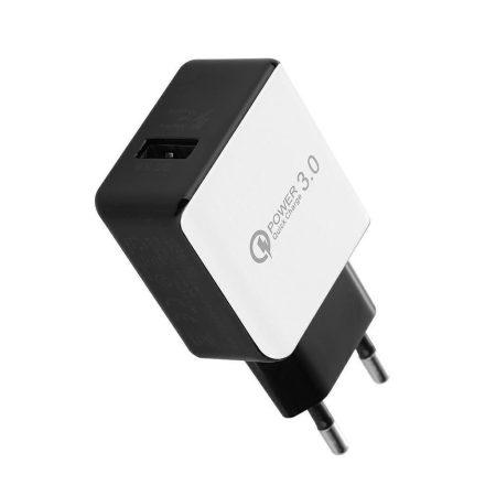 QC3.0 18W USB gyors-töltő, fehér