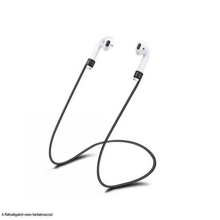 Szilikon nyakpánt Bluetooth fülhallgatókhoz, fekete