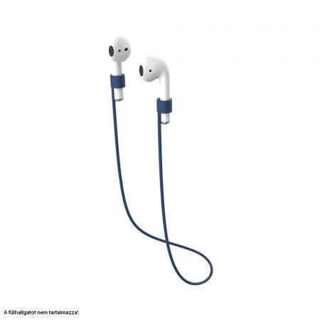 Szilikon nyakpánt Bluetooth fülhallgatókhoz, kék
