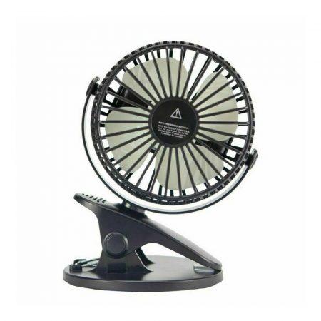 L8 Hordozható, csíptethető mini ventilátor, fekete
