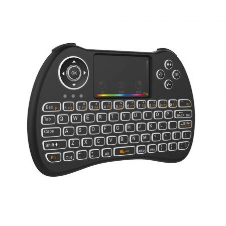 H9 vezeték nélküli mini billentyűzet+touchpad háttér világítással