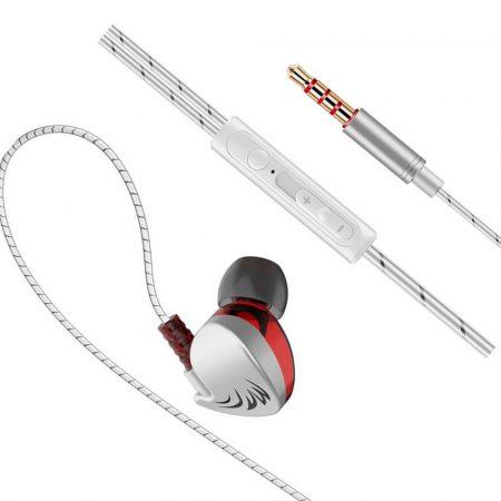 QKZ CK7 vezetékes fülhallgató és headset, ezüst-fehér