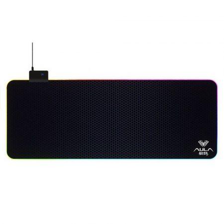 Aula F-X5 RGB LED egérpad 80x30cm, fekete-kék