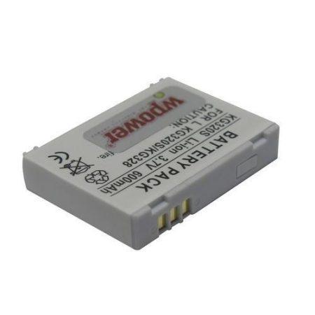 LG KG320S akkumulátor 600mAh utángyártott