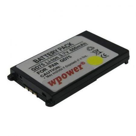 Panasonic GD75 akkumulátor 600mAh utángyártott