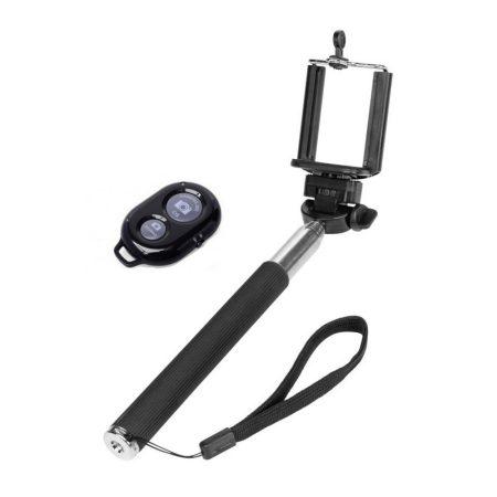 Selfie bot Bluetooth távkioldóval, fekete színben