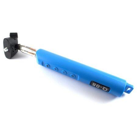 Selfie bot Bluetooth távkioldóval, kék színben
