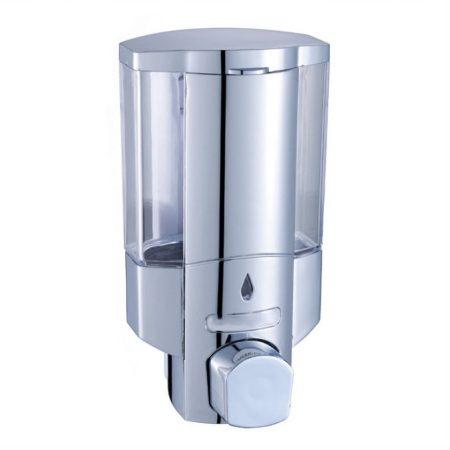 Falra szerelhető manuális szappanadagoló 300ml, ezüst