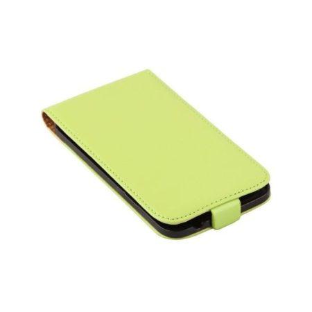 Samsung Galaxy S5 valódi bőr telefontok, zöld (3468)