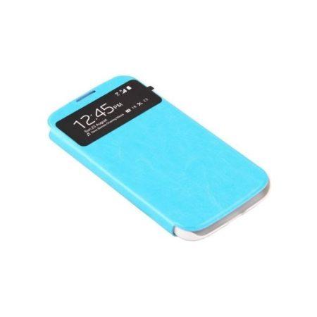 Samsung Galaxy S4 műbőr telefontok, kék