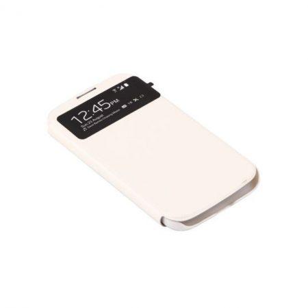 Samsung Galaxy S4 műbőr telefontok, fehér