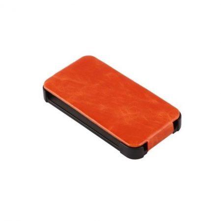 Apple iPhone 4S valódi bőr telefontok, narancs
