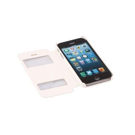 Apple iPhone 5S műbőr telefontok, fehér
