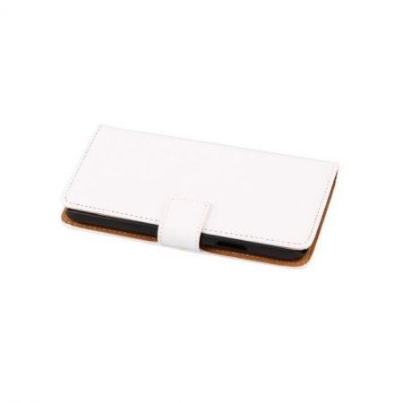 Samsung Galaxy S5 valódi bőr telefontok, fehér (3470)