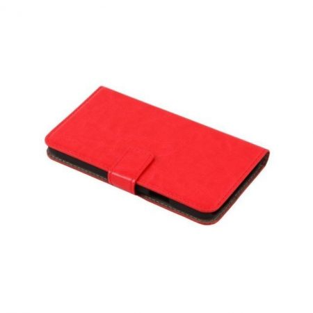 Samsung Galaxy S5 műbőr telefontok, piros (3463)