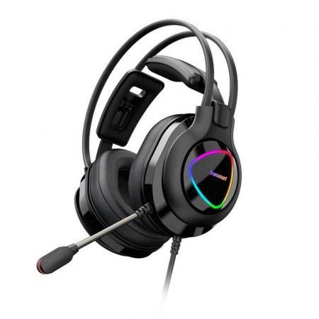 Tronsmart Glary Alpha LED-es Gamer fejhallgató, fekete