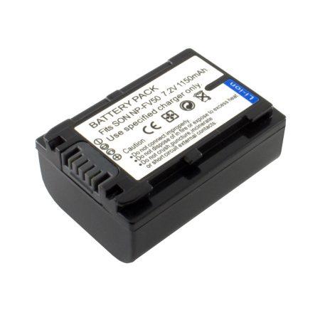 Sony NP-FV50 akkumulátor 1150mAh, utángyártott